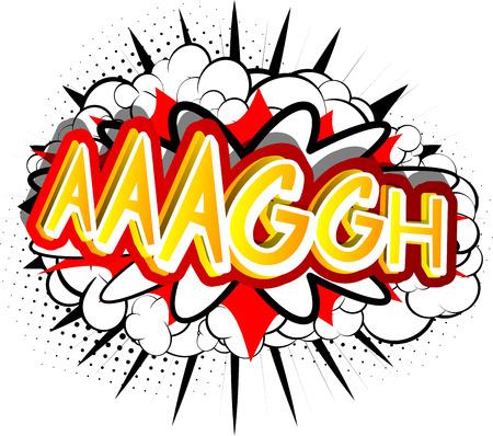 Aaaggh - ベクトルには、コミック スタイルの式が示されています。  イラスト・ベクター素材