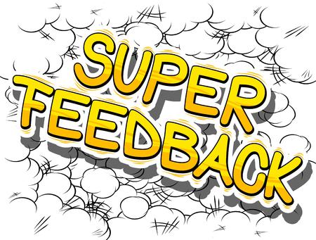 Super commentaires - mot de dessin animé sur fond abstrait Banque d'images - 84396513