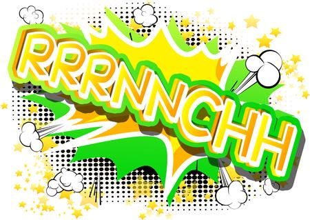 Rrrnnchh - には、コミック スタイルの式が示されています。