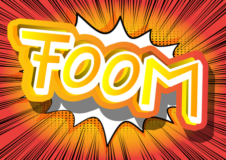 Foom - Vector illustrated comic book style expression. 向量圖像