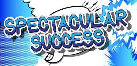 Spectacular Success - Comic book word on abstract background. Stock Vector - 84620295