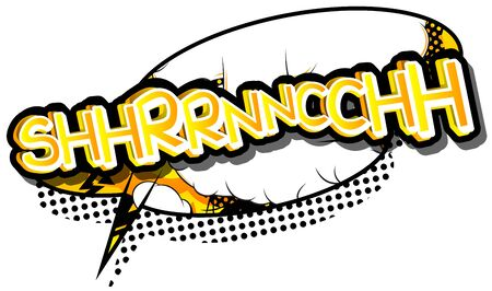 cartoon bomb: Shhrrnncchh - Vector illustrated comic book style expression.