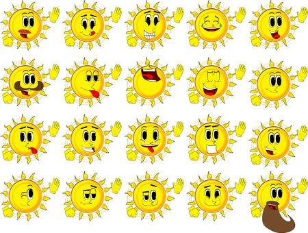 Verzameling van blije gezichten, uitdrukkingen vector set.