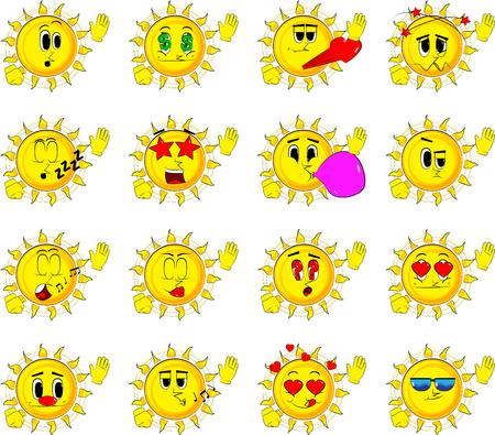 Verzameling van verschillende gezichtsuitdrukkingen, Vector set.