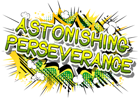 Astonishing Perseverance - Comic book word on abstract background. Reklamní fotografie - 84967420