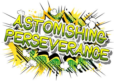 Astonishing Perseverance - Comic book word on abstract background. 版權商用圖片 - 84967420
