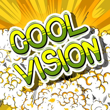 Cool Vision comic book lettering Illustration