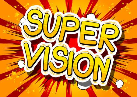 Super Vision comic book lettering