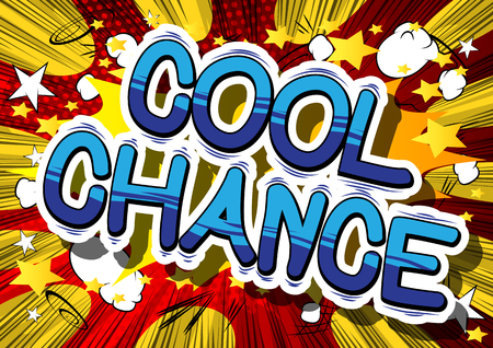 Kühle Wahrscheinlichkeit - Comicbuchwort auf abstraktem Hintergrund. Standard-Bild - 85093465