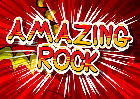 Amazing Rock - Comic book word 版權商用圖片 - 85456549