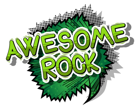 Awesome Rock - Comic book word
