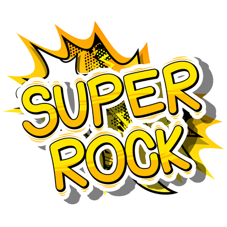 Super Rock - Comic book word