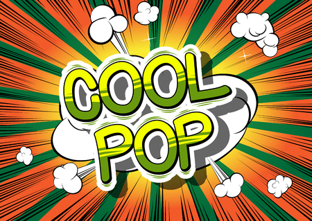 Cool Pop - Comic book word pop art Illustration