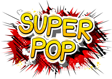 Super Pop - Comic book word pop art