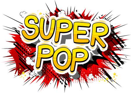 Super Pop - Comic book word pop art Stockfoto - 85480534