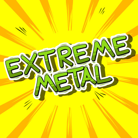 heavy metal: Extreme Metal - Comic book word on abstract background. Illustration