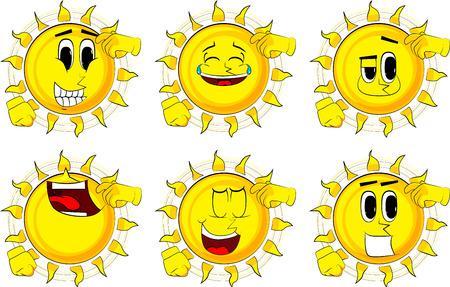 Cartoon confused sun.