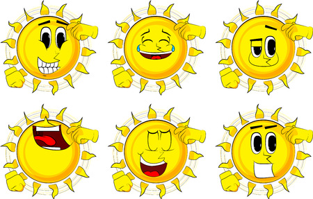 Cartoon confused sun.