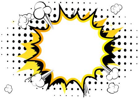 Vector geïllustreerde stripboek achtergrond met spraakbellen.