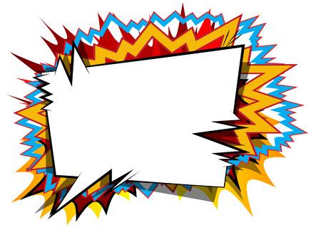 Vector il fondo illustrato di stile del libro di fumetti con i fumetti. Archivio Fotografico - 85855013