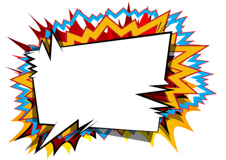 Vector illustrated comic book style background with speech bubbles. Ilustração