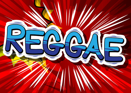 Reggae - Comic book word on abstract background. Illustration