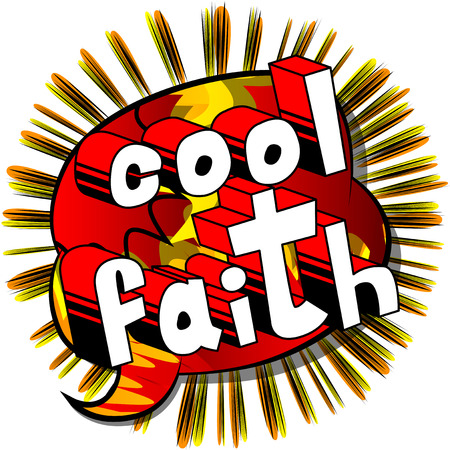 Cool Faith in Comic book style word Çizim