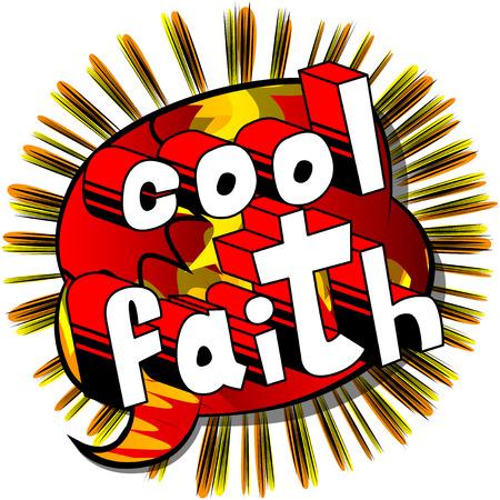 Cool Faith in Comic book style word Ilustração