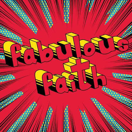 Fabulous Faith in Comic book style word