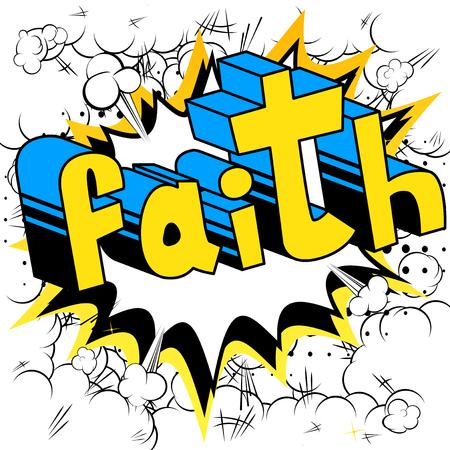 Geloof in woord in stripstijl
