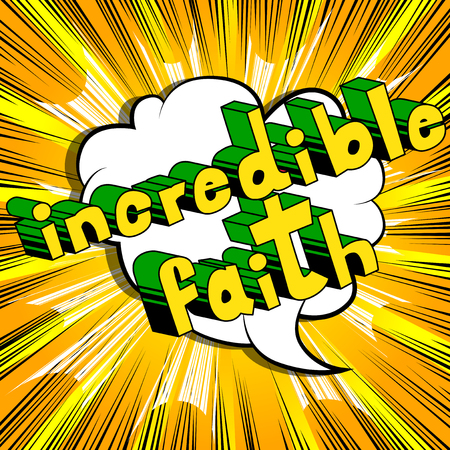 Ongelofelijk geloof in woord in stripstijl Stock Illustratie