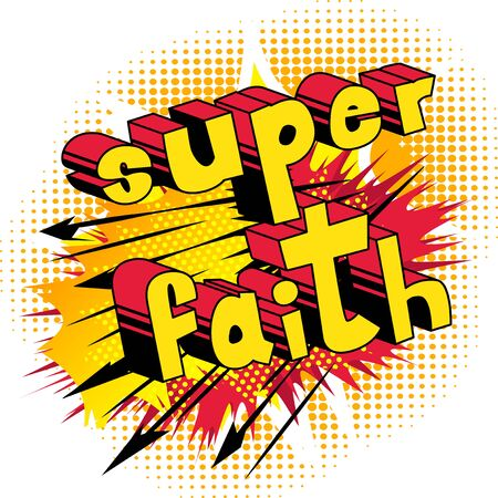 Super Faith in Comic book style word Çizim