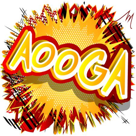 Aooga - ベクトルには、コミック スタイルの式が示されています。  イラスト・ベクター素材
