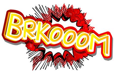 Brkooom - ベクトルには、コミック スタイルの式が示されています。