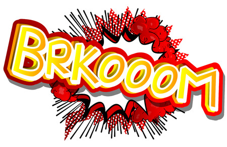 Brkooom word illustrated comic book style expression.