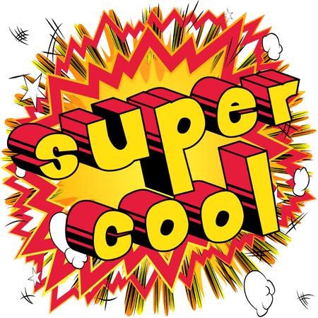 超クールな - コミック スタイル word の抽象的な背景。
