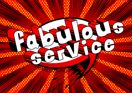 Fabulous Service - Comic book style word on abstract background. Ilustração