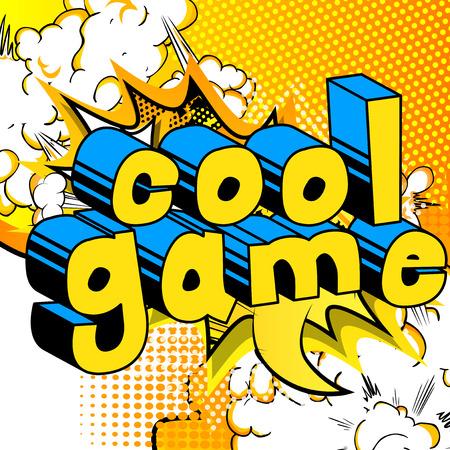 쿨 게임 - 추상적 인 배경에 만화 스타일 단어. 일러스트