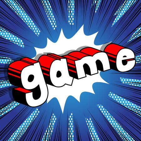 게임 - 추상적 인 배경에 만화 스타일 단어입니다.