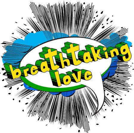Breathtaking Love - Comic book style word