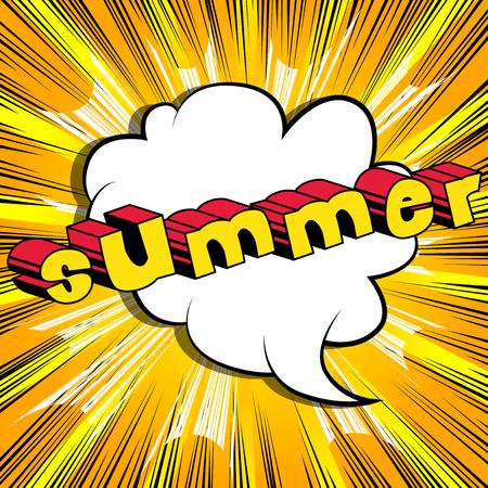 Summer - Comic book style. Illustration
