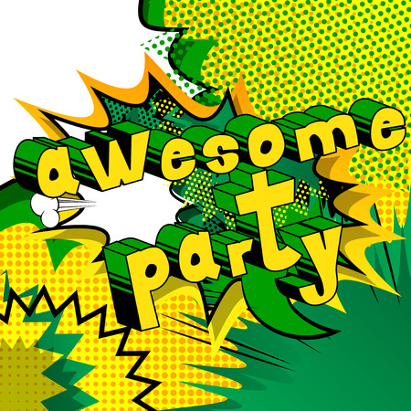 Awesome Party  Comic book style