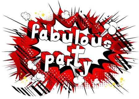 Fabulous Party  Comic book style