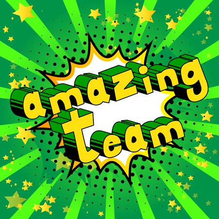 Amazing team banner. Ilustração