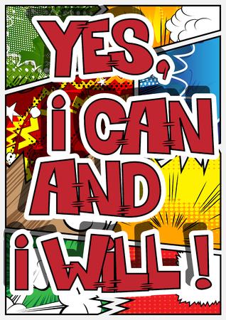 Vector illustrated comic book style design. Illustration