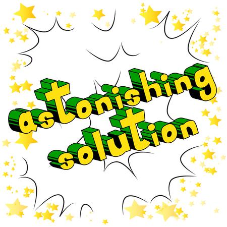 Astonishing Solution word art. Ilustracja