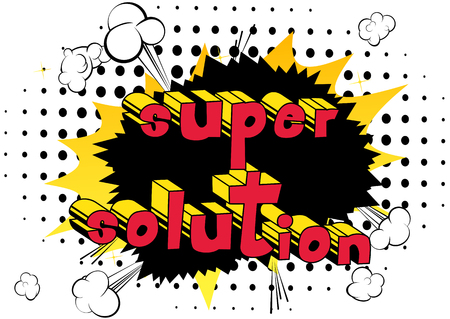 Super Solution - word art. Ilustracja