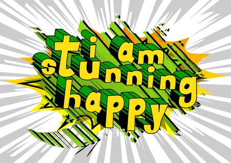 私はコミック スタイル word の抽象的な背景は見事な幸せ。