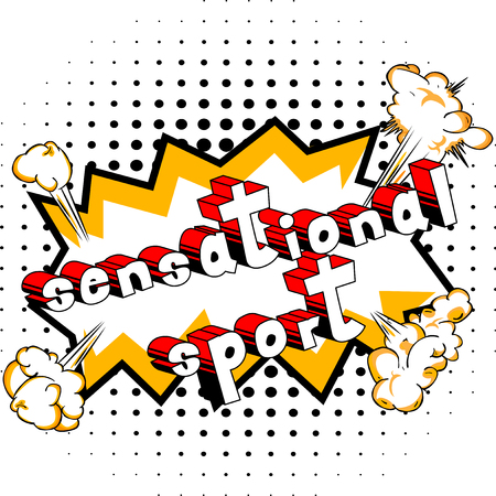 Sensational Sport - Comic book style word on abstract background.