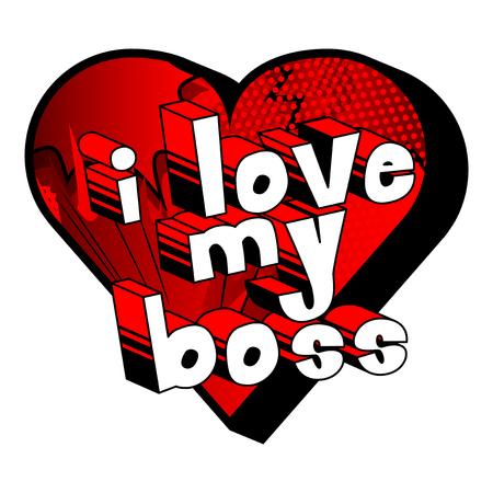 만화책 스타일 I Love My Boss 단어